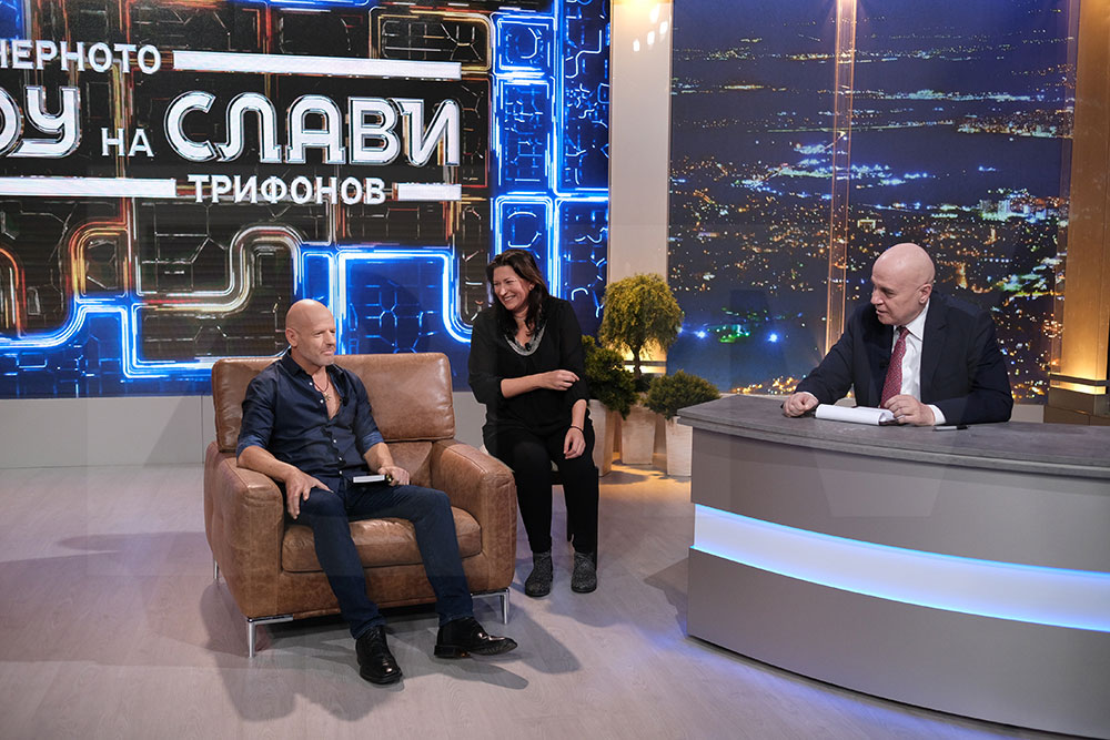 Gahl Sasson on the Slavi Trifonov's Evening Show